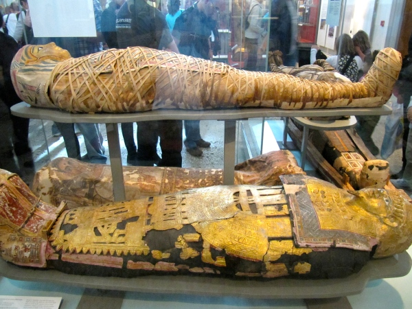 Mummies at British Museum.