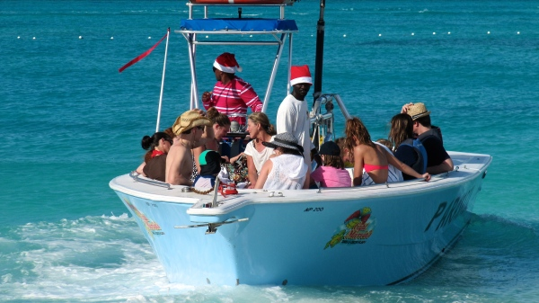 Christmas day on the beach in Turks & Caicos.