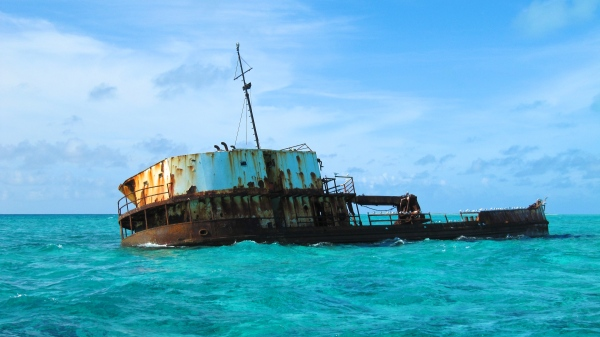 Shipwreck off of French Cay.