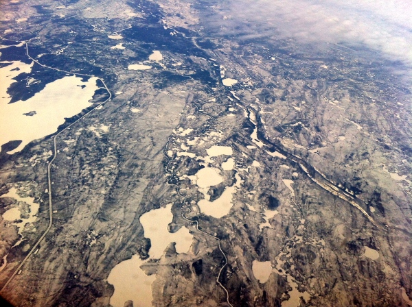 View of Northern Manitoba from the plane.