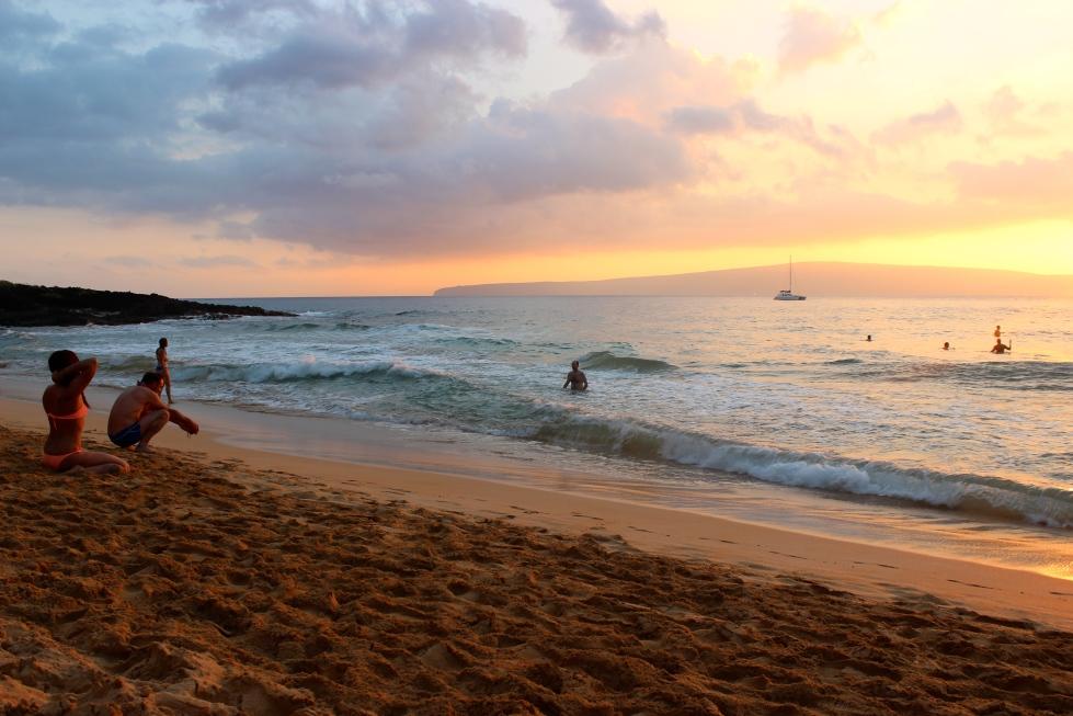 Sunset at Little Beach, Makena, Maui, Hawaii