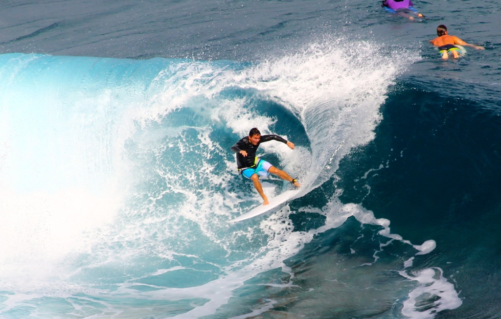 Surfers at Honolua Bay, Lahaina, Maui, Hawaii